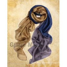 Gorgeous fashion silk chiffon scarf with gradient dyeing