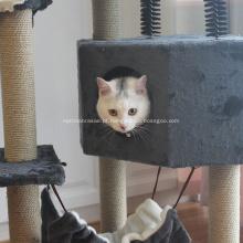 Condomínio mobiliário gatinho atividade torre árvore com caverna