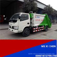 Dongfeng 4000L 4 X 2 LHD caliente venta compactador camión de basura