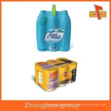 Fábrica de Guangzhou personalizado PVC / PET / POF / PE flexibles sensibles al calor plástico impreso bandas de encogimiento en rollo