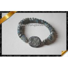 Labradorite Rondelle Perlen Armbänder, Großhandel Druzy Armbänder (CB016)