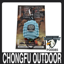 Key Chain Type Paracord Grenade as Survival Kit