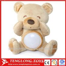 Linda muñeca amimal niño lámpara de peluche oso luz nocturna