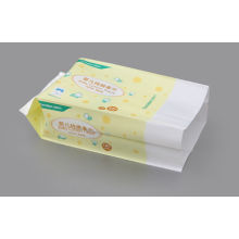 Laminated Adhesive Sticker Side Gusset Bag For Baby Wet Tissue