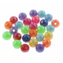 Оптовое 6mm отверстие 1mm AB цвет покрыло граненый круглый твердый акриловый шарик