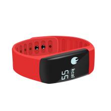 Ce e RoHS padrão inteligente pulseira com função de freqüência cardíaca