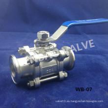 "China Abrazadera de acero inoxidable válvula de bola sanitaria 1 ""304 fábrica"