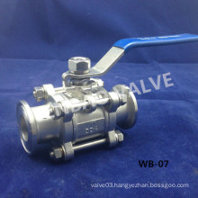 "China Stainless Steel Clamp Sanitary Ball Valve 1"" 304 Factory"
