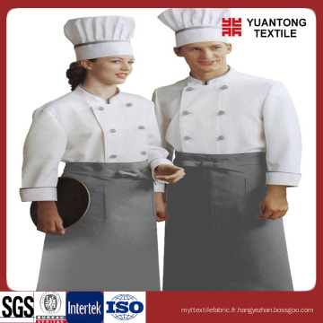 Tissu 100% coton confortable pour vêtements de chef