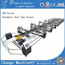 Máquina de impresión de pantalla automática de tipo Oval serie Spo para la venta