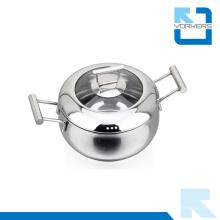 Nuevo diseño de la bolsa de acero inoxidable utensilio Ware Soup Pot