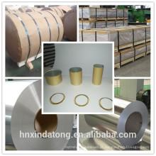 Folha de alumínio 8011/3105/5052 da lubrificação do óleo do DOS para o tampão dos PP, fechamento de ROPP, extremidades abertas fáceis, fechamentos da garrafa, tampão de rosca de metal