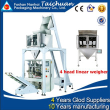 Multi-function 4 head linear weigher high accuracy full automatic good quality vertical sugar packing machine TCLB-420FZ