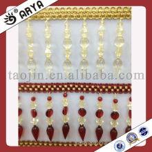 Elegante corte de franjas de contas compridas, Fralda de grânulos de cortina