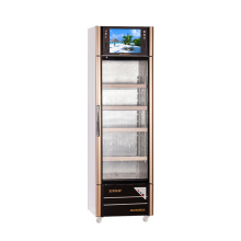 308L Single Temperature Opening Glas Tür Multimedia Showcase mit LED-Bildschirm
