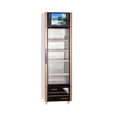 210L Abertura Porta de Vidro Multimedia Showcase com tela LED