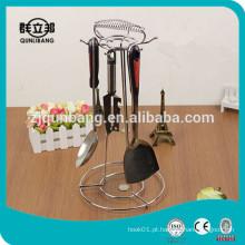 Faca de cozinha de metal e suporte de colher / suporte