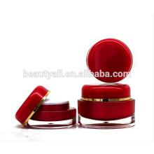 15ML 20ML 30ML 50ML Envase de acrílico transparente plástico ovalado del cosmético