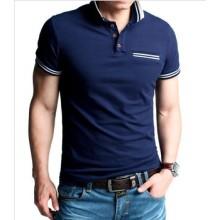 Оптовая Fashtion 100% хлопок поло рубашка для мужчин (XY0018)