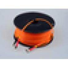 ST / UPC para ST / UPC cabo de remendo de fibra óptica blindado duplex 300m / rolo cabo de remendo óptico de cabo de remendo