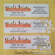 Ultra Destructible Vinyl Labels,package Security Seals,cargo Security Seals,eggshell Paper Warranty Security Sticker