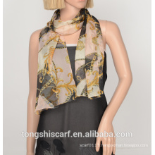 polyester printed rectangle scarf 680-01 YS396 40X155