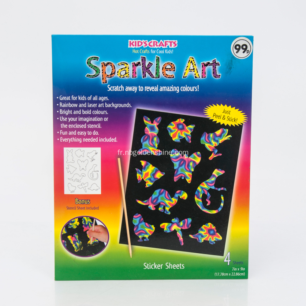 Sparkle Scratch Art Crafts