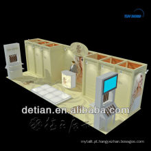 Estande de exposição 3mx6m para locação / locação estande de exposição 6x6 estande / montadora de locação