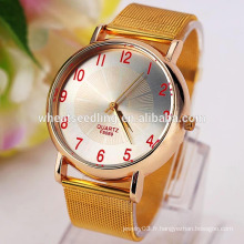 Valentines gift 4 couleurs plaqué or montre yiwu homme