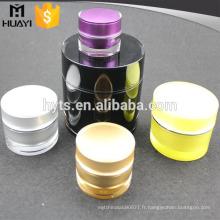 pot cosmétique acrylique en plastique