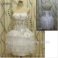 RSW81 Lace Puffy Sexy Vestido de casamento curto 2013