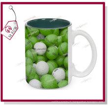 Tasses en céramique de 15oz de Sublimation avec la couleur intérieure de Mejorsub