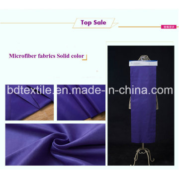 Solid Microfiber Brused Two Sides with Very Soft Hand Feeling for Home Textile