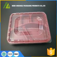 recipientes de plástico para compartimentos de alimentos desechables