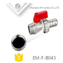 EM-F-B043 Nickel brass mini radiator valve manifold for gas