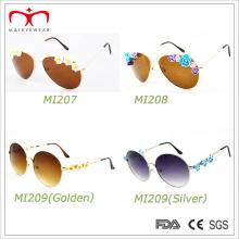 Lunettes de soleil en métal de mode de style 2015 avec décoration de fleurs (MI207-MI209)
