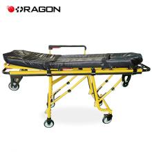Carro de emergencia y clínica Carro de camilla para ambulancia