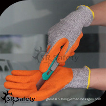 SRSAFETY coated latex anti-cut working gloves, level 5