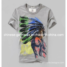 Wholesale Indian Head Printed T-Shirt for Men, Man Clothes