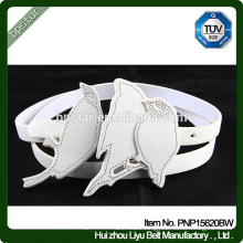 PU Women Belts White Casual Straps for Female Dress Cinch Cintos Designer Brand