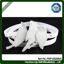 PU Women Belts White Casual Straps para o vestido feminino Cinch Cintos Designer Brand