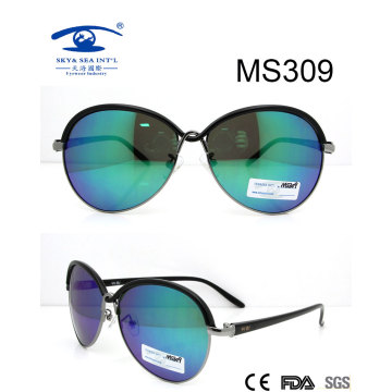 2016 gafas de sol del metal de la mujer (MS309)