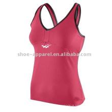 Wholesale fábrica de baixo preço top de fitness para as mulheres, top de tênis