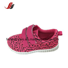 Magic Type Children Canvas Injection Sport Shoes with Fashion Design