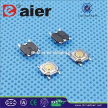 Daier KFC-004A 5.2*5.2 4PINS Short Foot Tact Switch