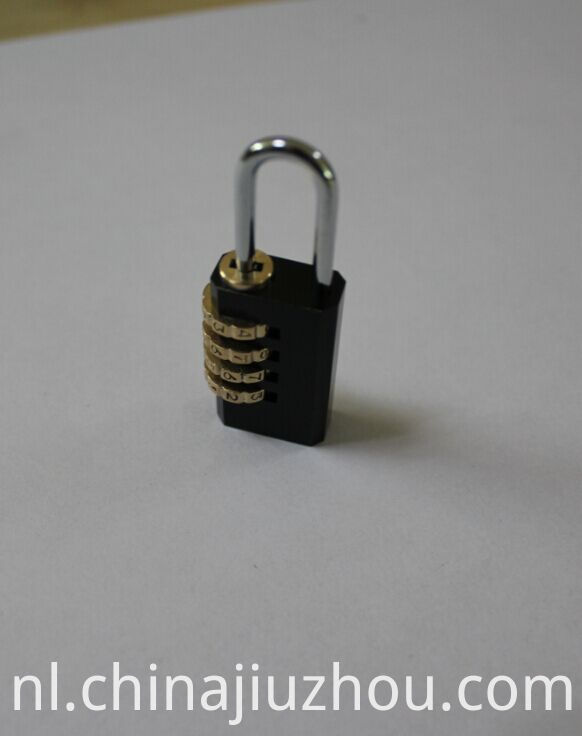Black-plated Brass Combination Padlocks