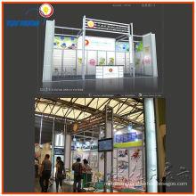 cabina de exhibición portátil de la exhibición de la feria profesional de aluminio, sistema de exhibición de la exhibición del diseño