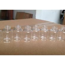 Alta calidad clara Mini Tubular atornillado frasco de cristal