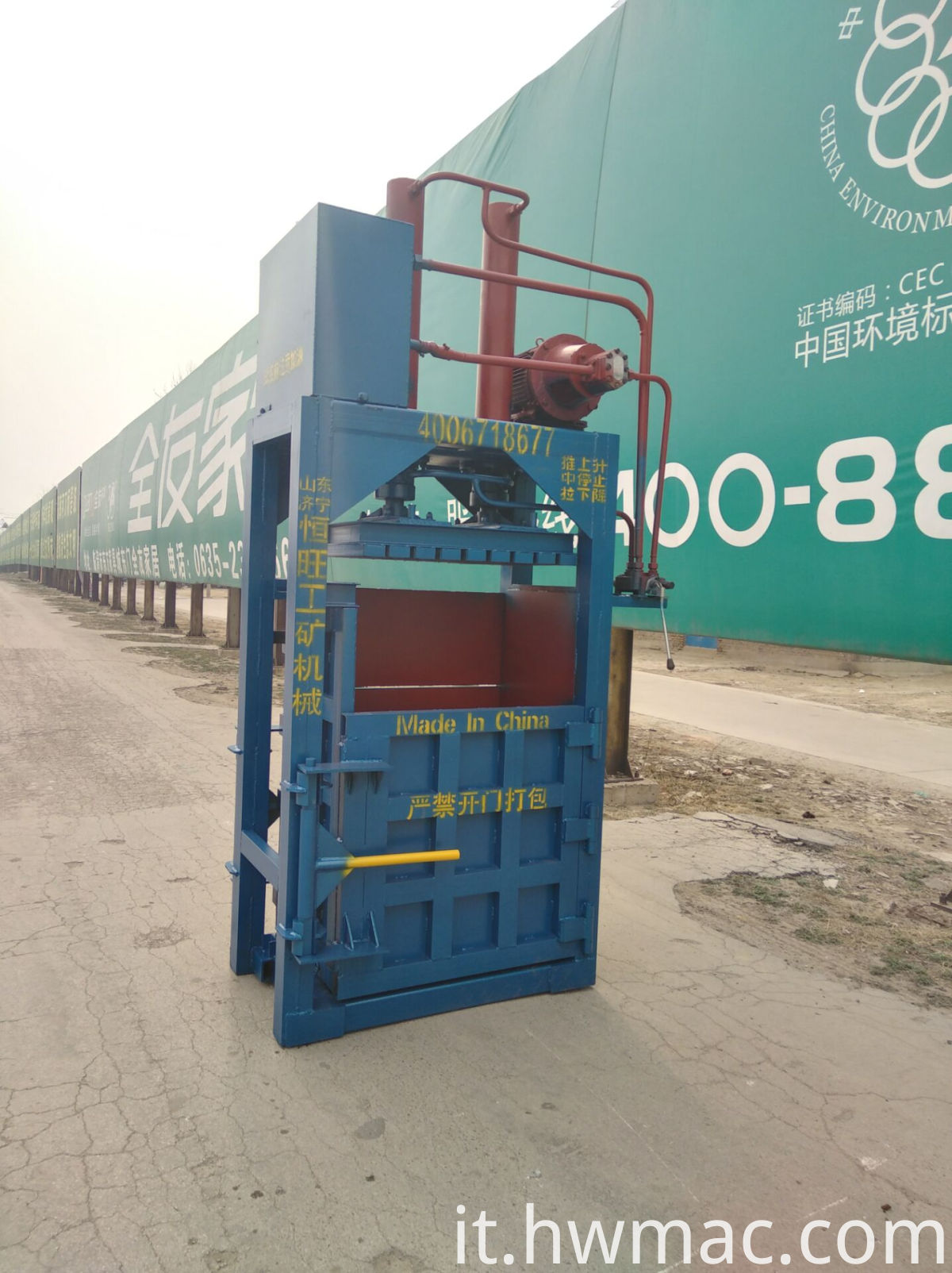 hydraulic baling machine