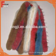Qualidade superior tingida tiras de pele de raposa real